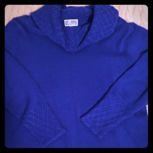 Royal Blue Turtle Neck Sweater